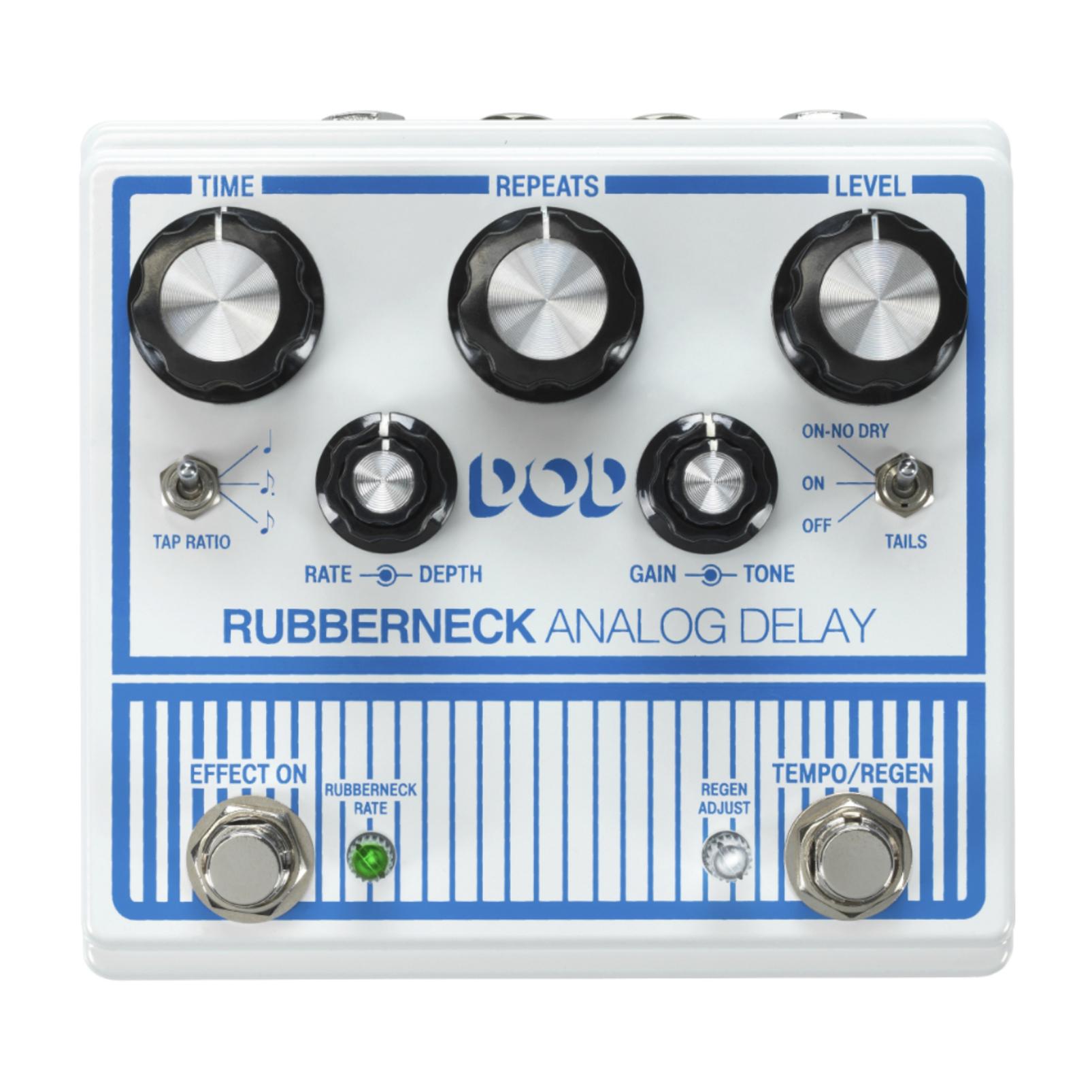 DOD Rubberneck - White / Blue - Analog Delay - Front