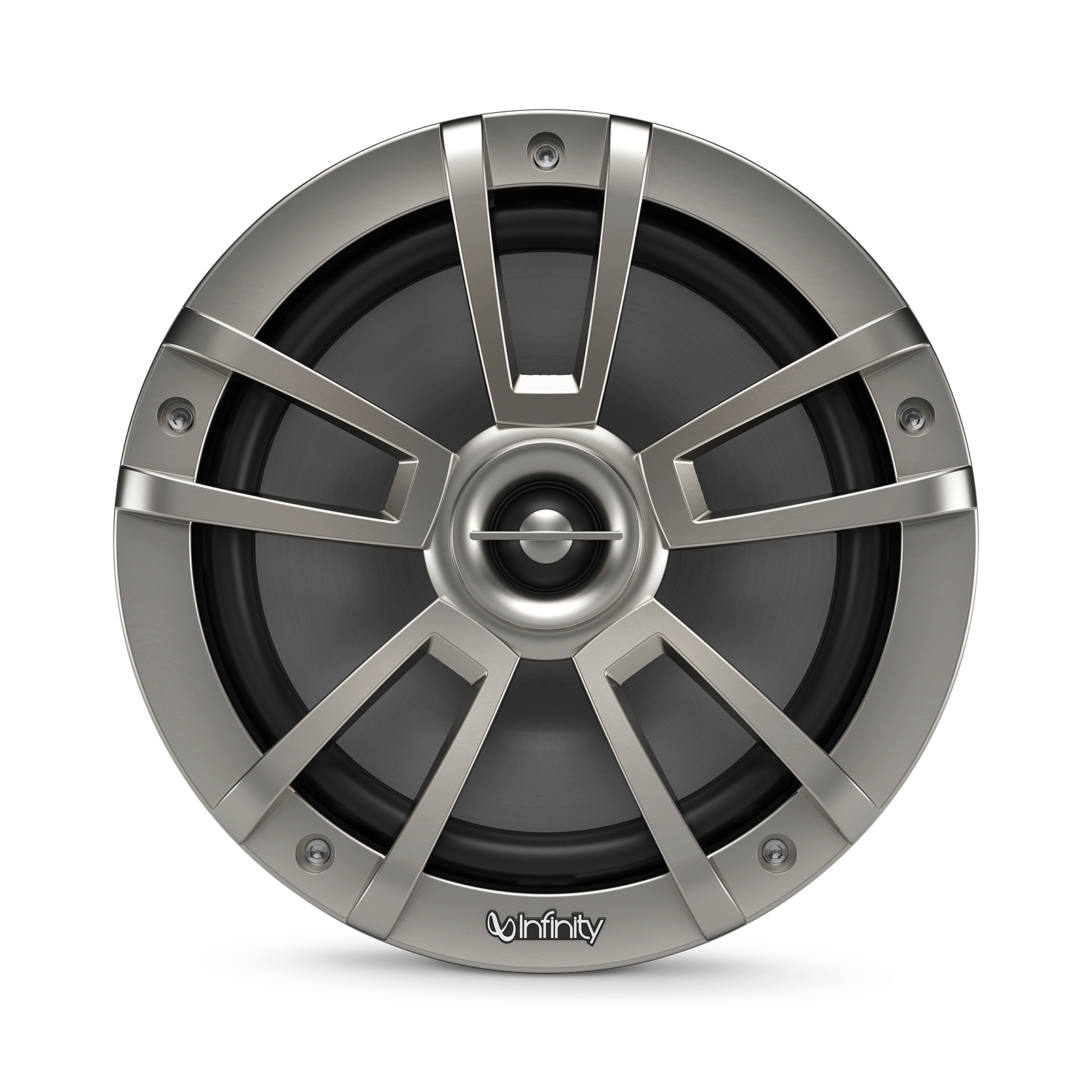 """Reference 822MLT - Graphite - Reference 822MLT—8"""" (200mm) two-way marine audio multi-element speaker – titanium - Front"""