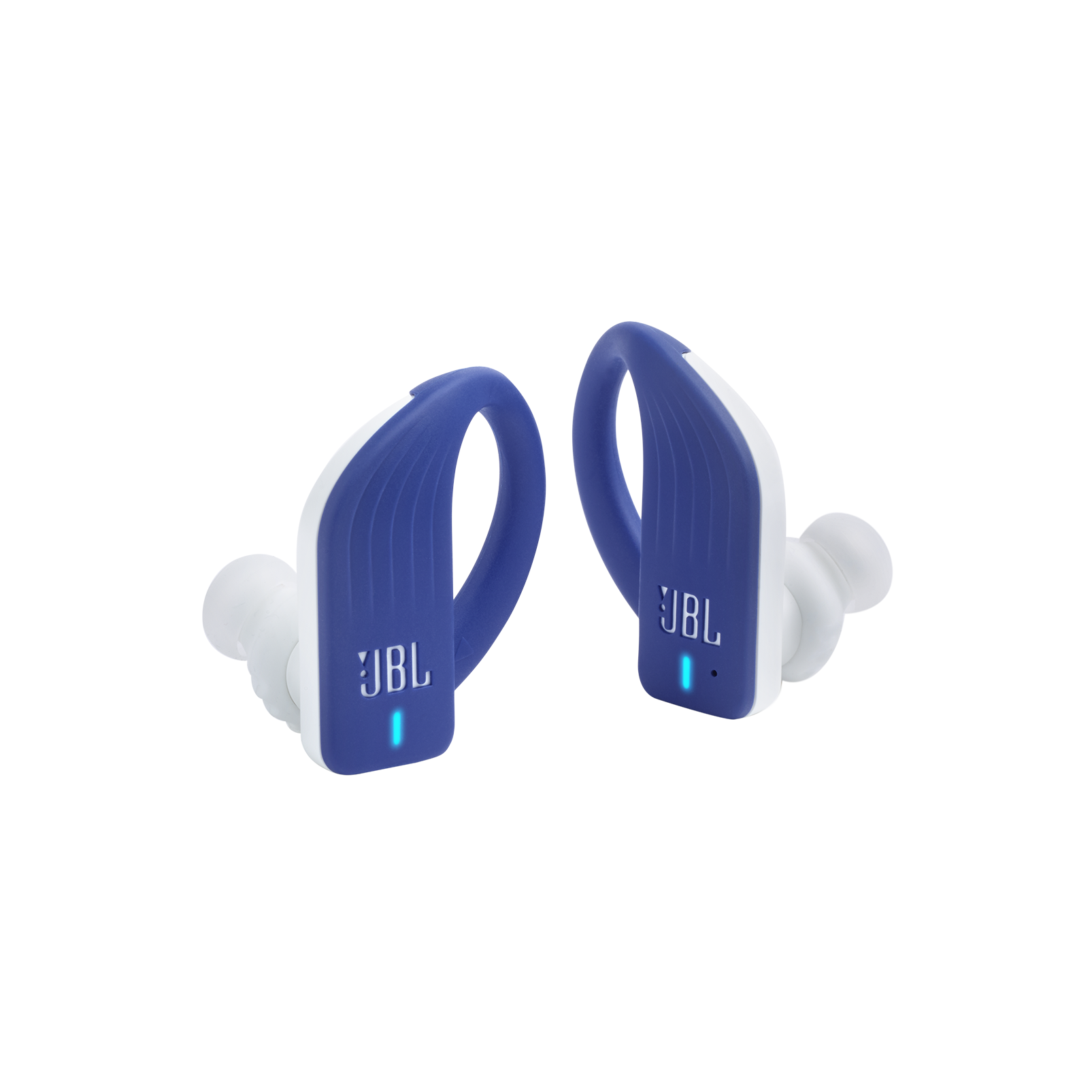 JBL Endurance PEAK - Blue - Waterproof True Wireless In-Ear Sport Headphones - Detailshot 3
