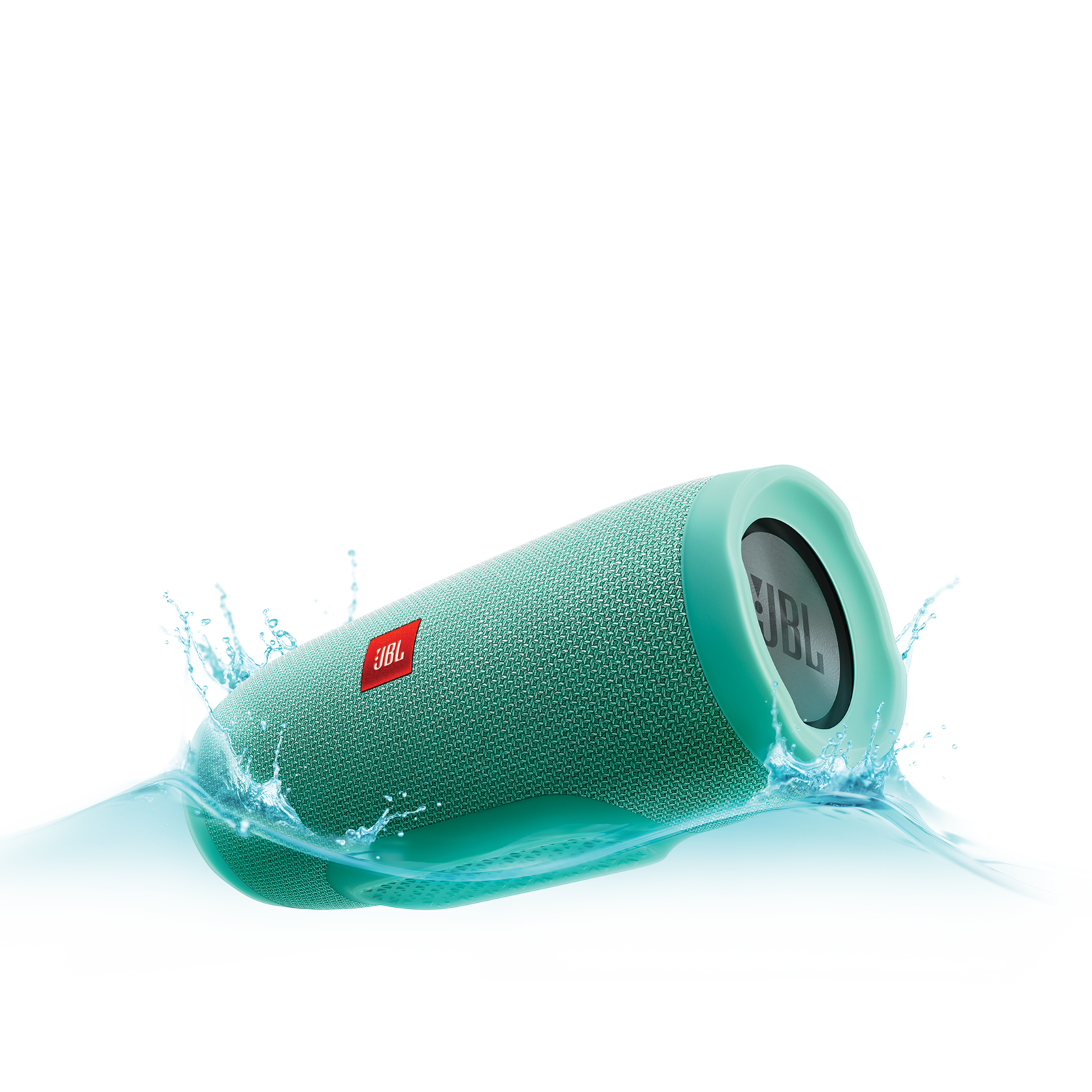JBL Charge 3 - Teal - Full-featured waterproof portable speaker with high-capacity battery to charge your devices - Hero