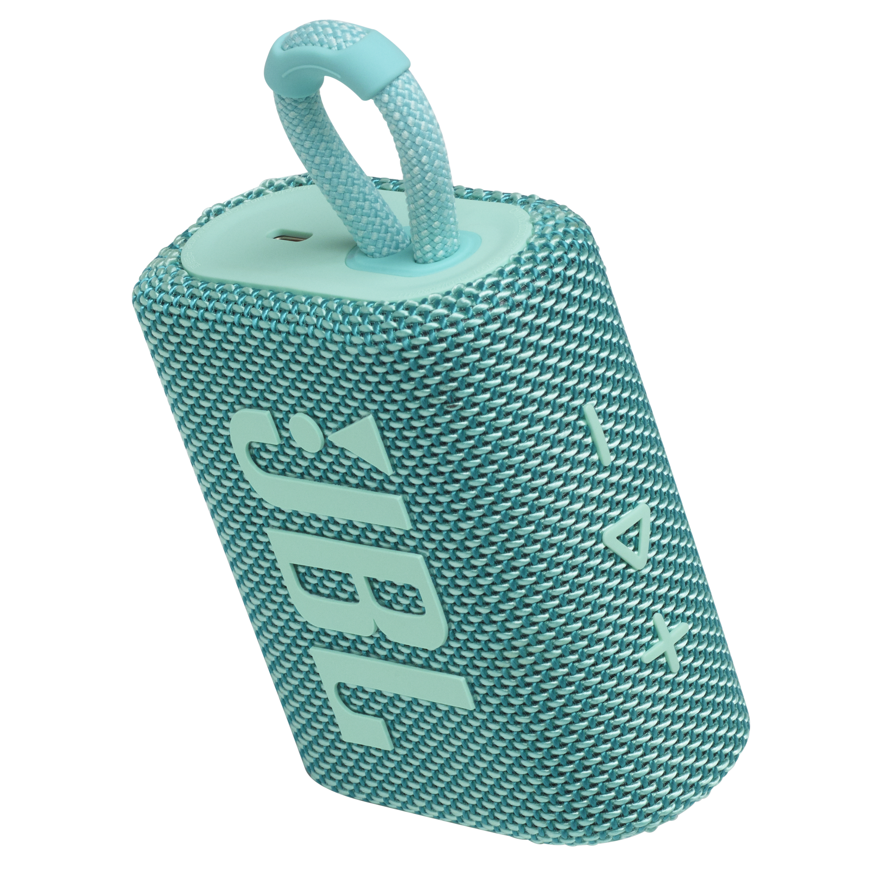 JBL GO 3 - Teal - Portable Waterproof Speaker - Detailshot 2