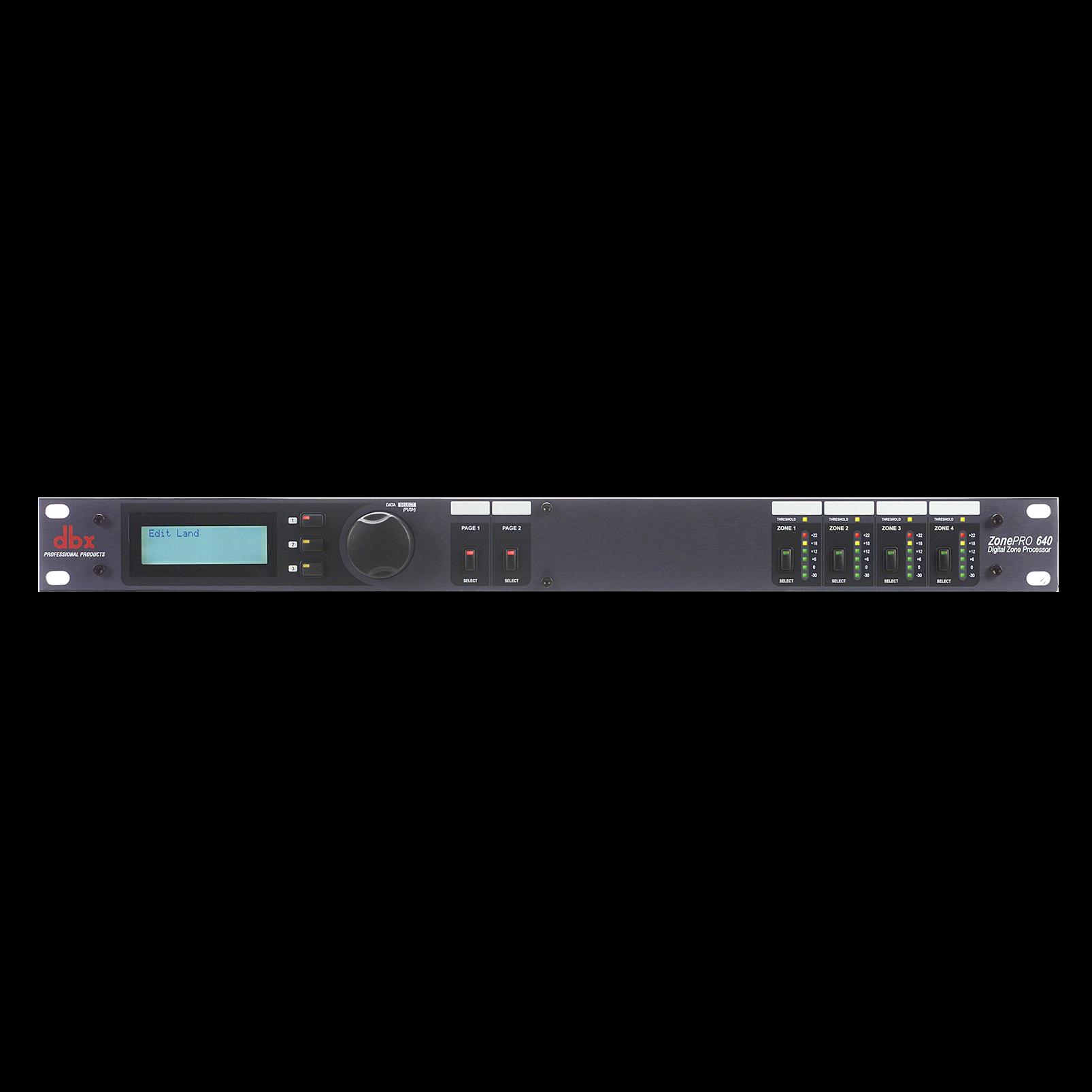 ZonePro 640 - Black - 6x4 Digital Zone Processor - Hero