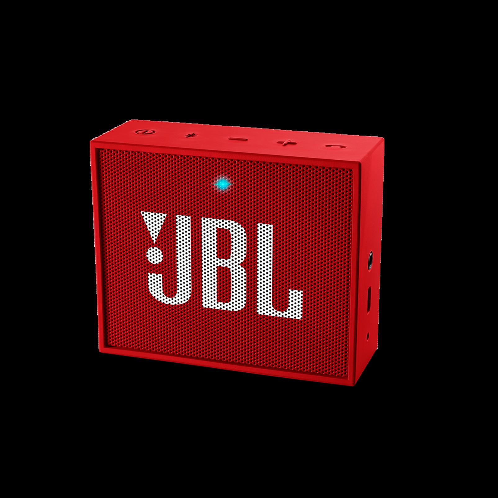 JBL GO - Red - Full-featured, great-sounding, great-value portable speaker - Hero