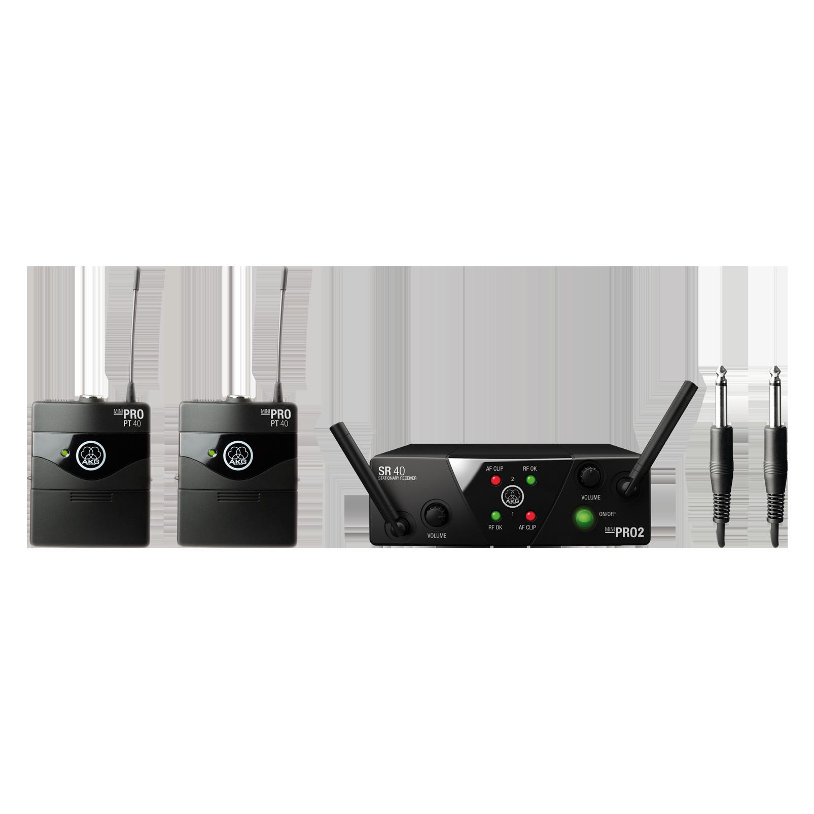 WMS40 Mini Dual Instrumental Set Band-US25-A/C - Black - Wireless microphone system - Hero