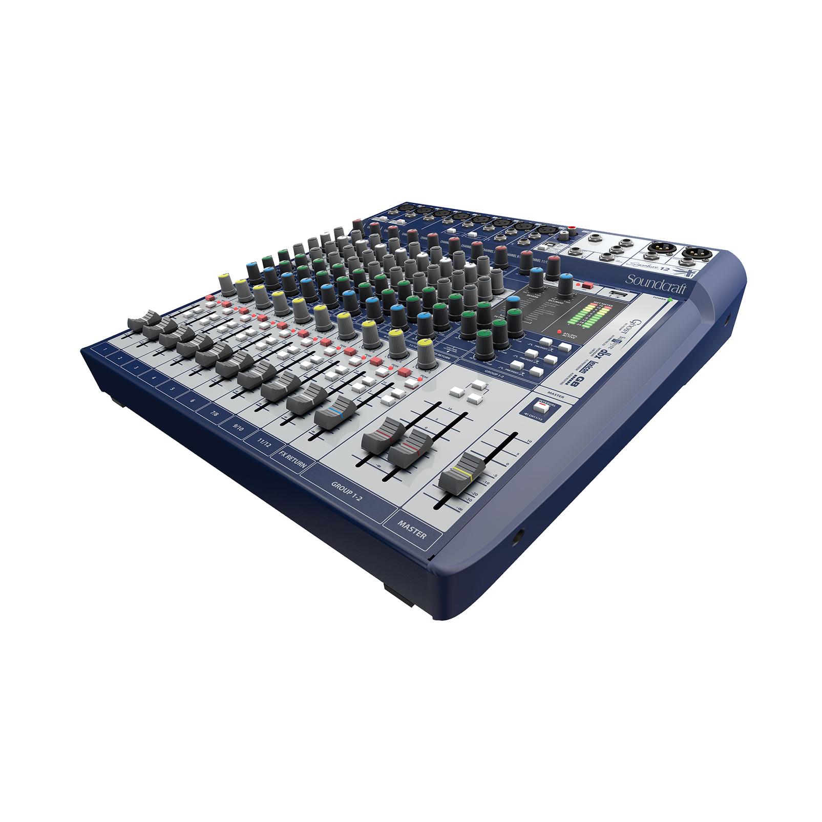 Signature 12 - Dark Blue - 12-input small format analogue mixer with onboard effects - Hero