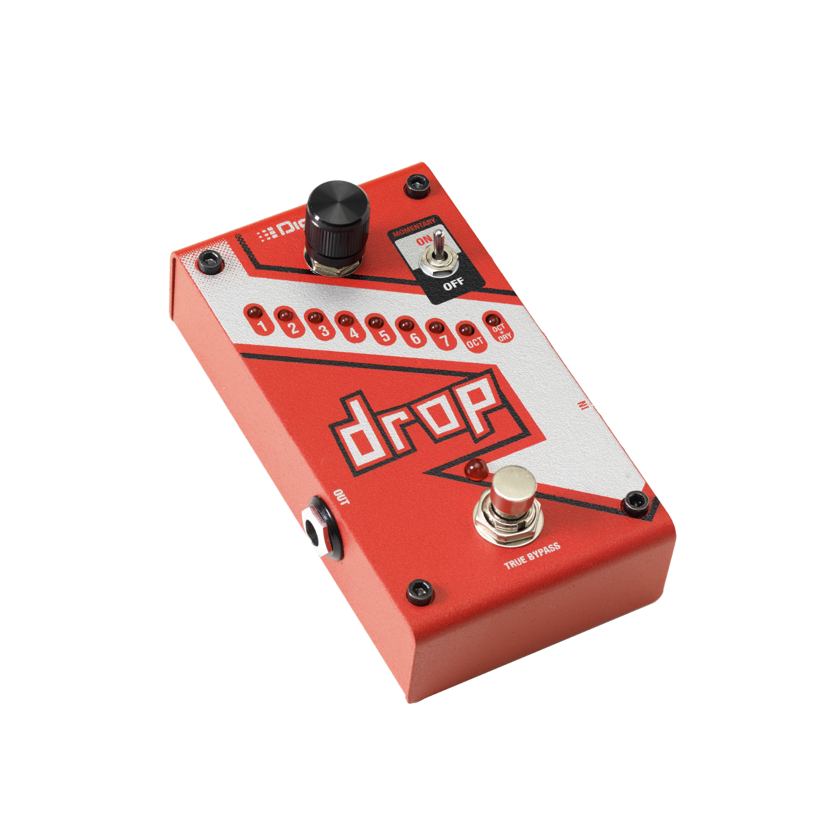 The Drop - Red - Polyphonic Drop Tune Pedal - Detailshot 1