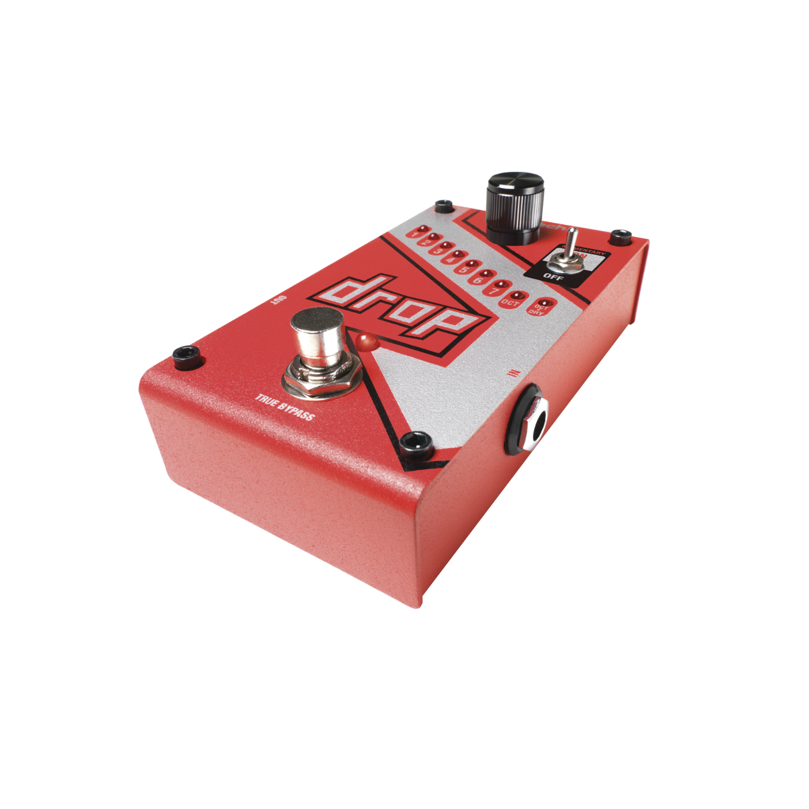 The Drop - Red - Polyphonic Drop Tune Pedal - Detailshot 4