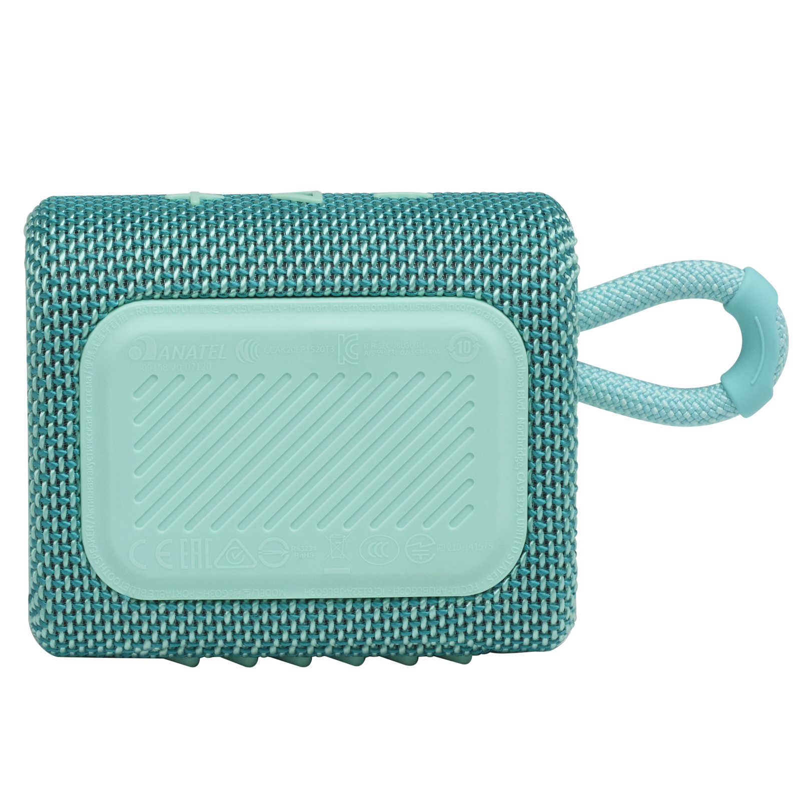JBL GO 3 - Teal - Portable Waterproof Speaker - Back