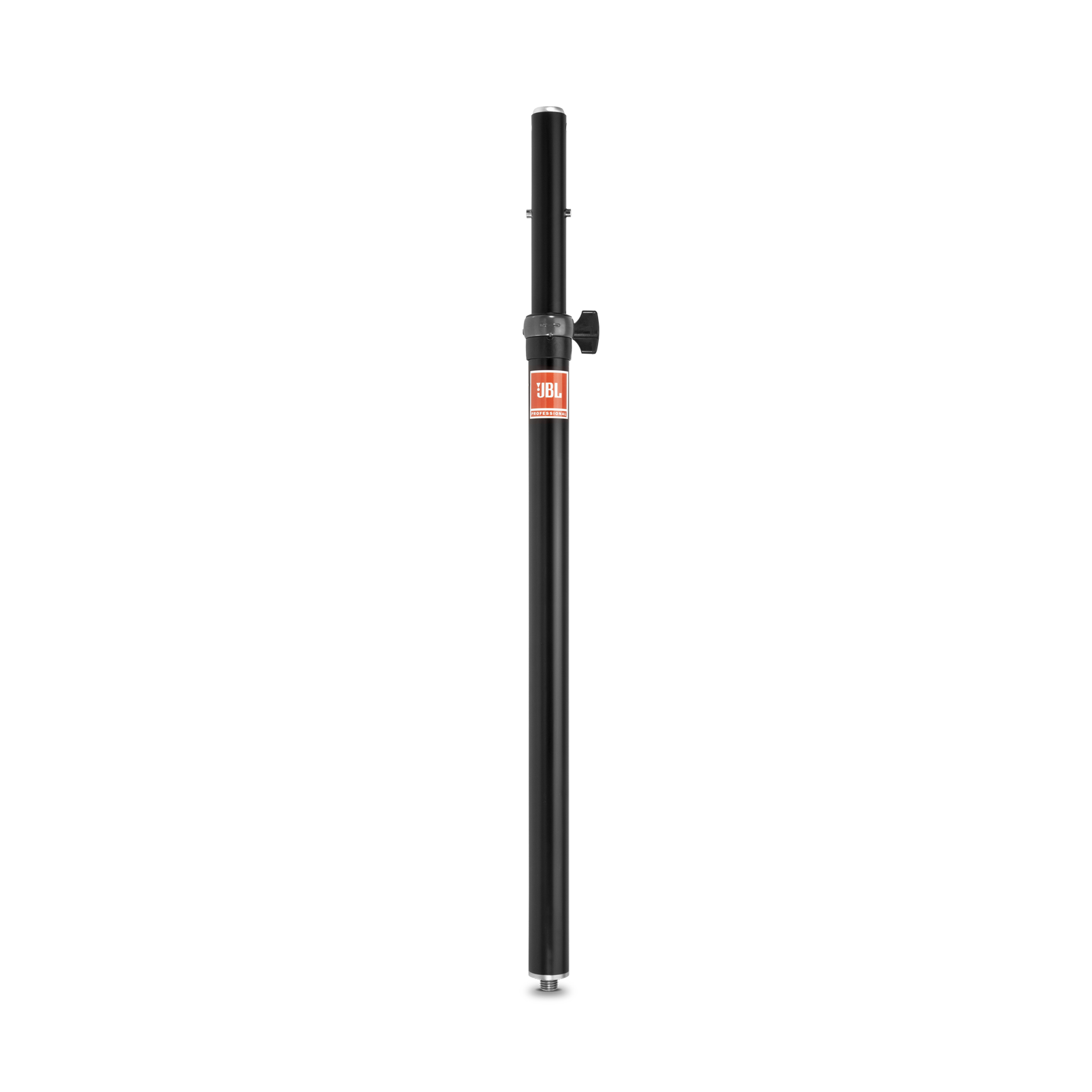 JBL Speaker Pole (Manual Assist) - Black - Manual Adjust Speaker Pole with M20 Threaded Lower End, 38mm Pole & 35mm Adapter - Hero