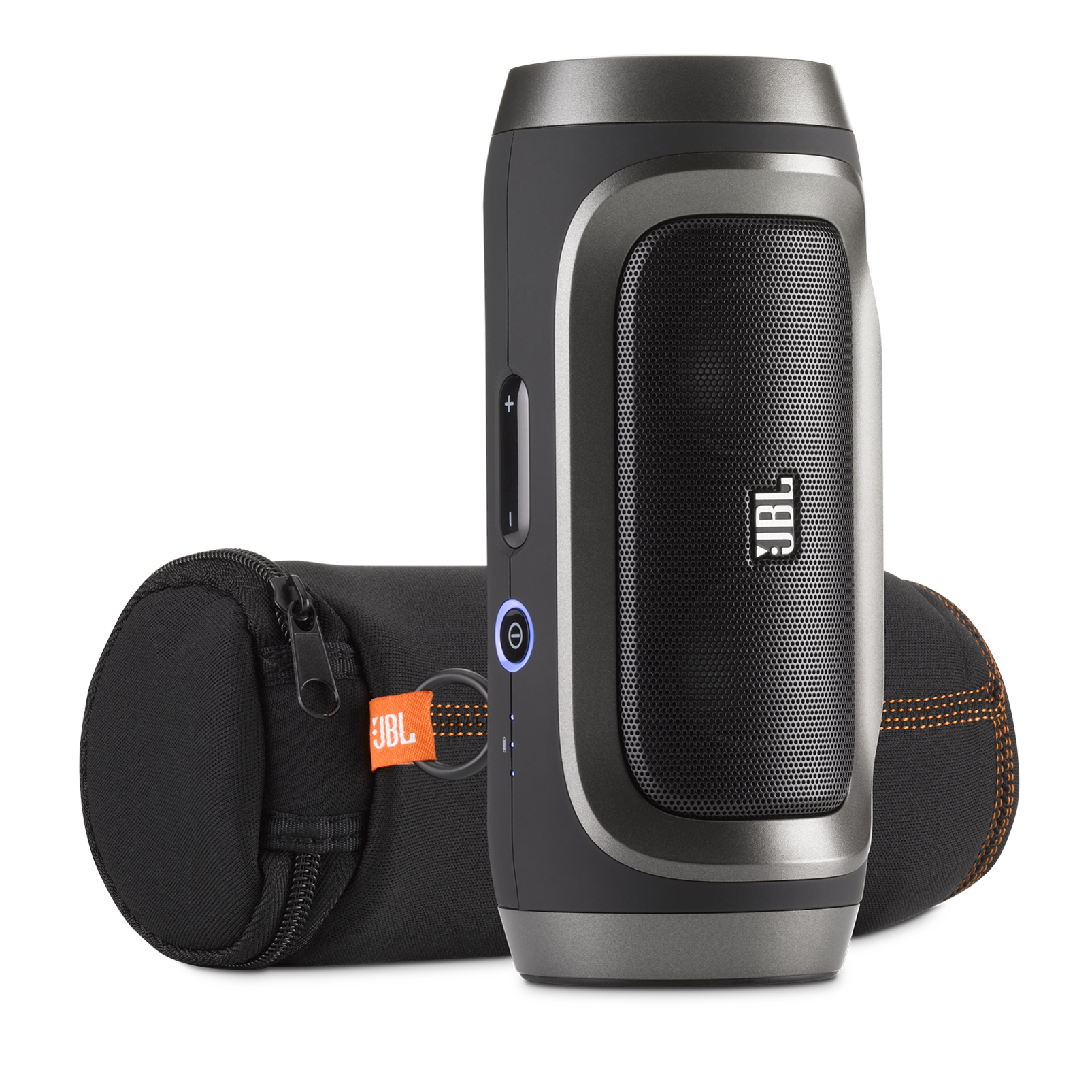 JBL Charge - Black / Silver - Portable Wireless Bluetooth Speaker with USB Charger - Detailshot 2