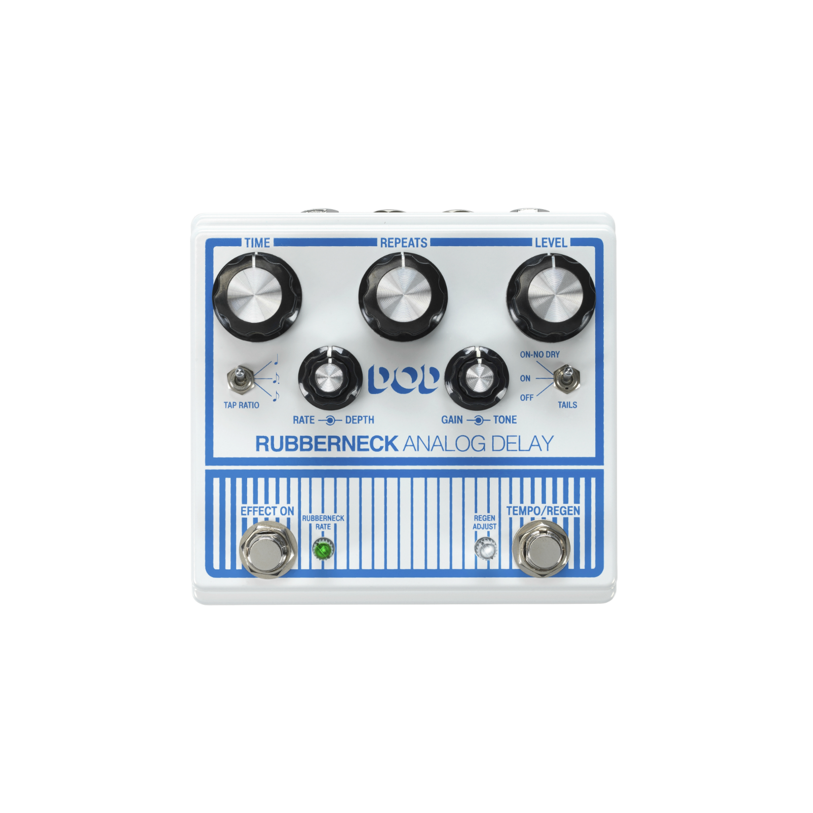 DOD Rubberneck - White / Blue - Analog Delay - Front