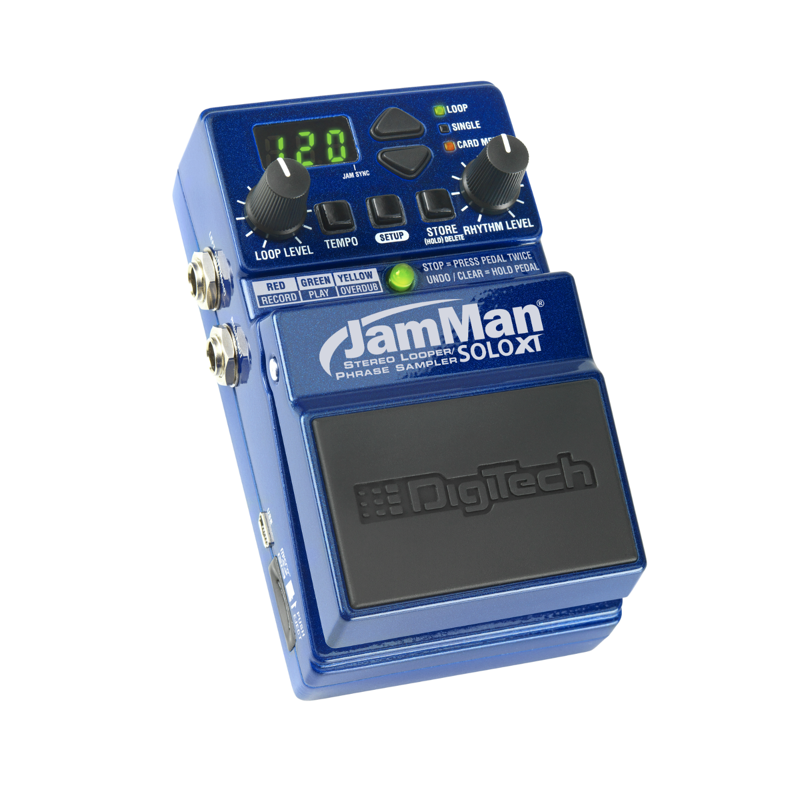 JamMan Solo XT - Blue - Stereo Looping in a Compact Pedal with JamSync - Hero
