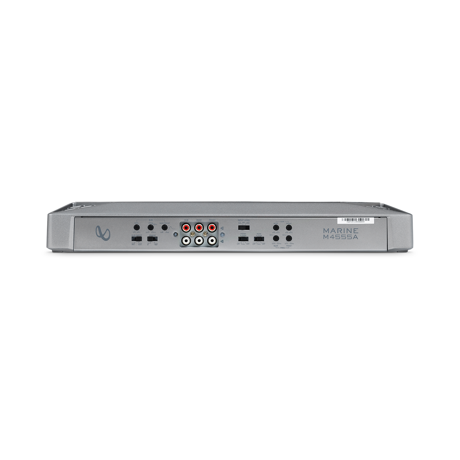 Infinity Marine M4555A - Silver - Multi-element high-performance, 5-channel amplifier - Back