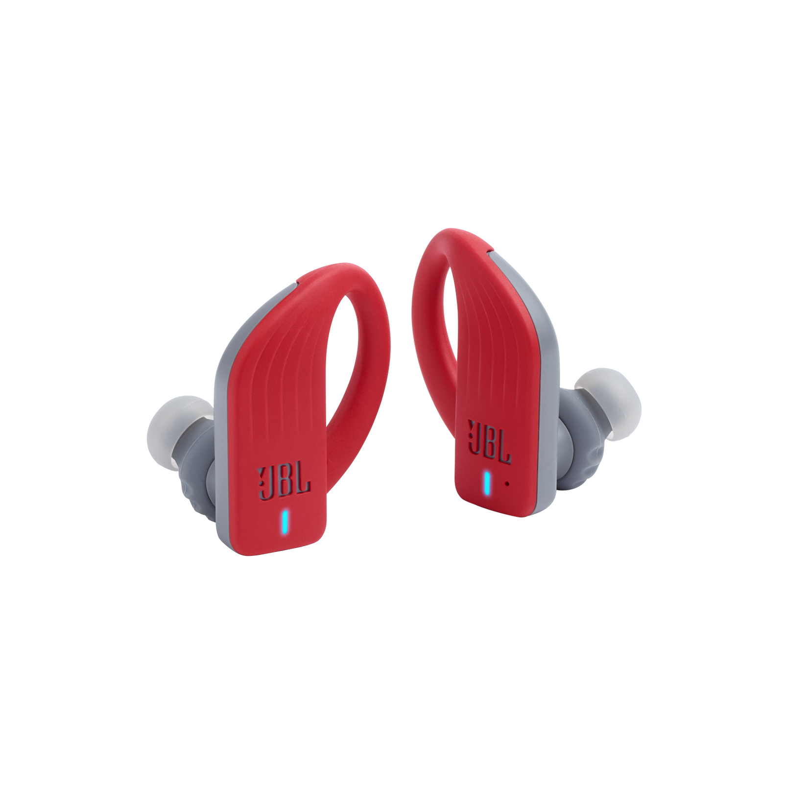 JBL Endurance PEAK - Red - Waterproof True Wireless In-Ear Sport Headphones - Hero
