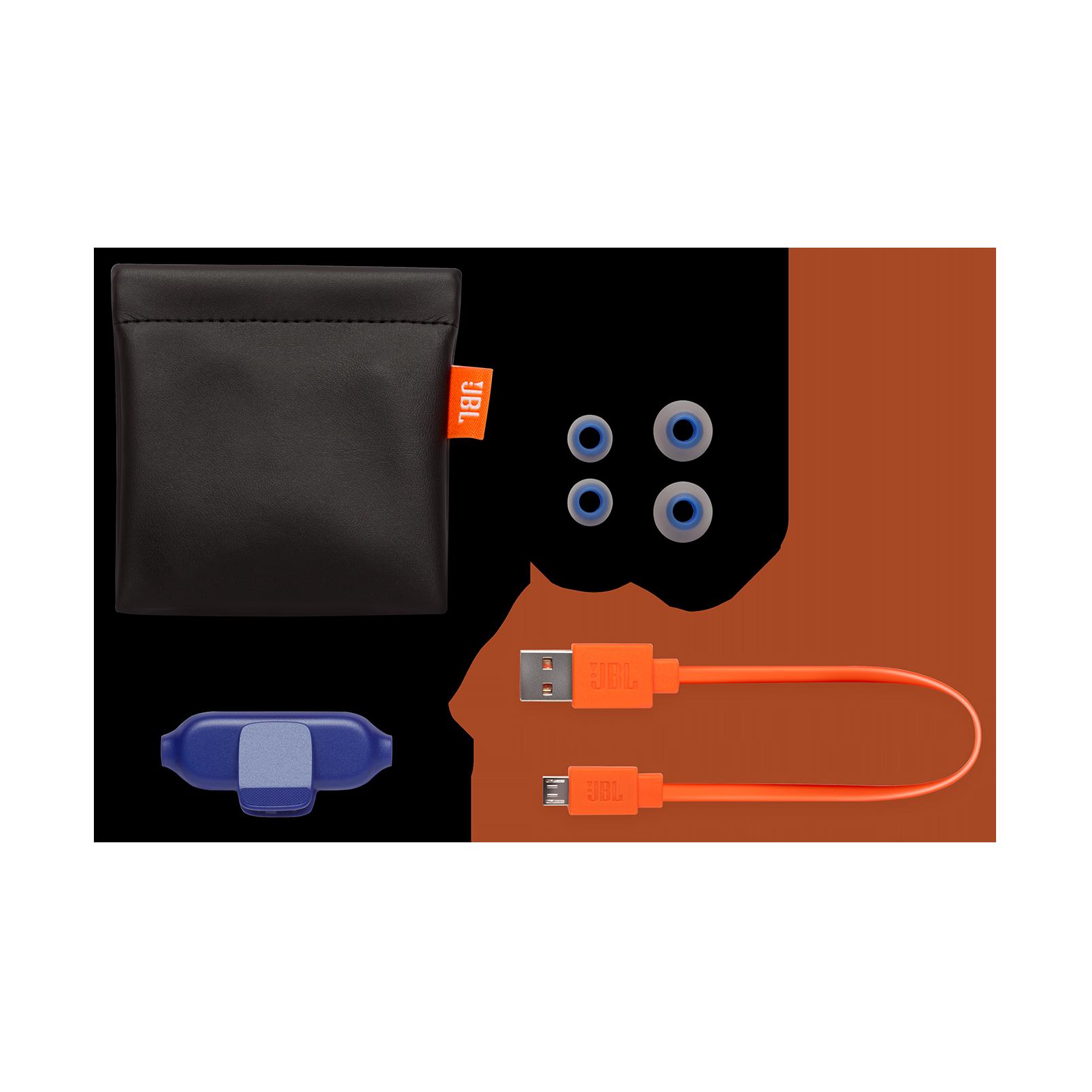 E25BT - Blue - Wireless in-ear headphones - Detailshot 4