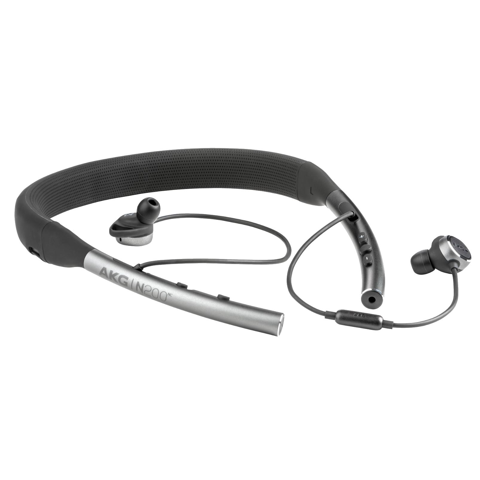 AKG N200NC Wireless - Grey - Wireless, Adaptive Noise Cancelling In-Ear Headphones - Front