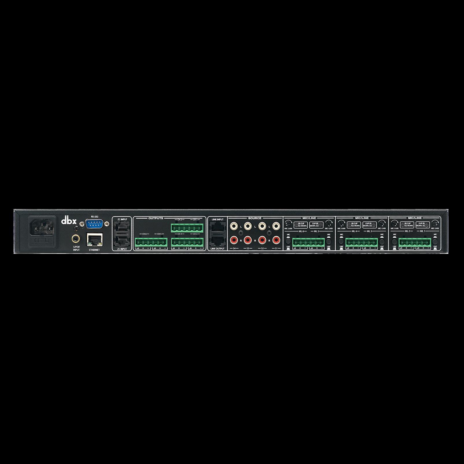 ZonePro 1261m - Black - 12x6 Digital Zone Processor - Back